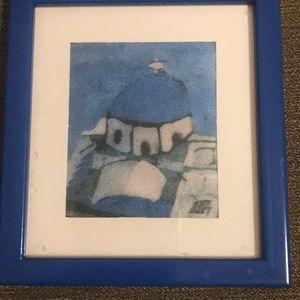 Miniature framed print from Greece